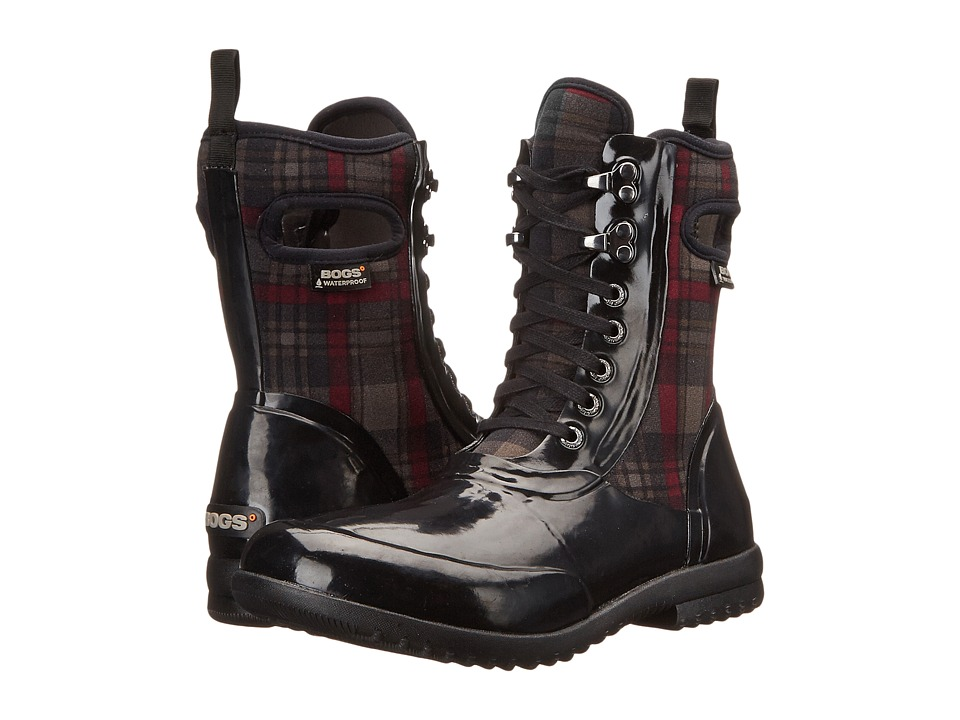 Bogs - Sidney Lace Plaid (Black Multi) Women