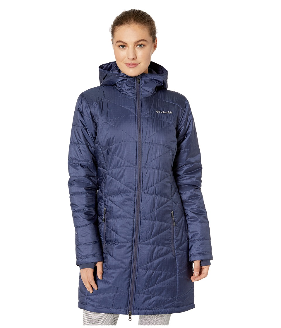 Columbia - Mighty Litetm Hooded Jacket (Nocturnal) Womens Coat