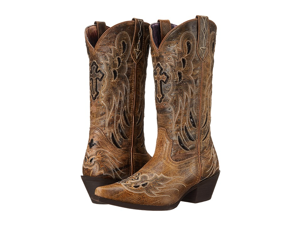 Laredo Crosswing (Black/Taupe) Cowboy Boots