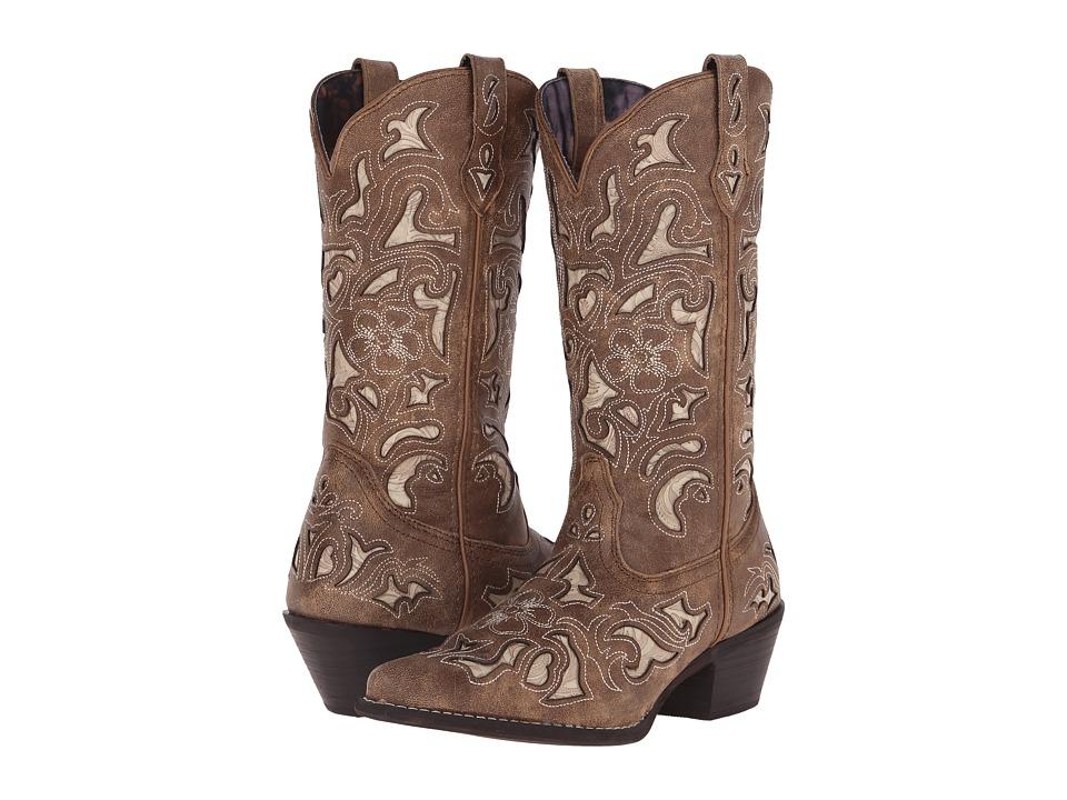 Laredo Sharona (Tan Crackle) Cowboy Boots