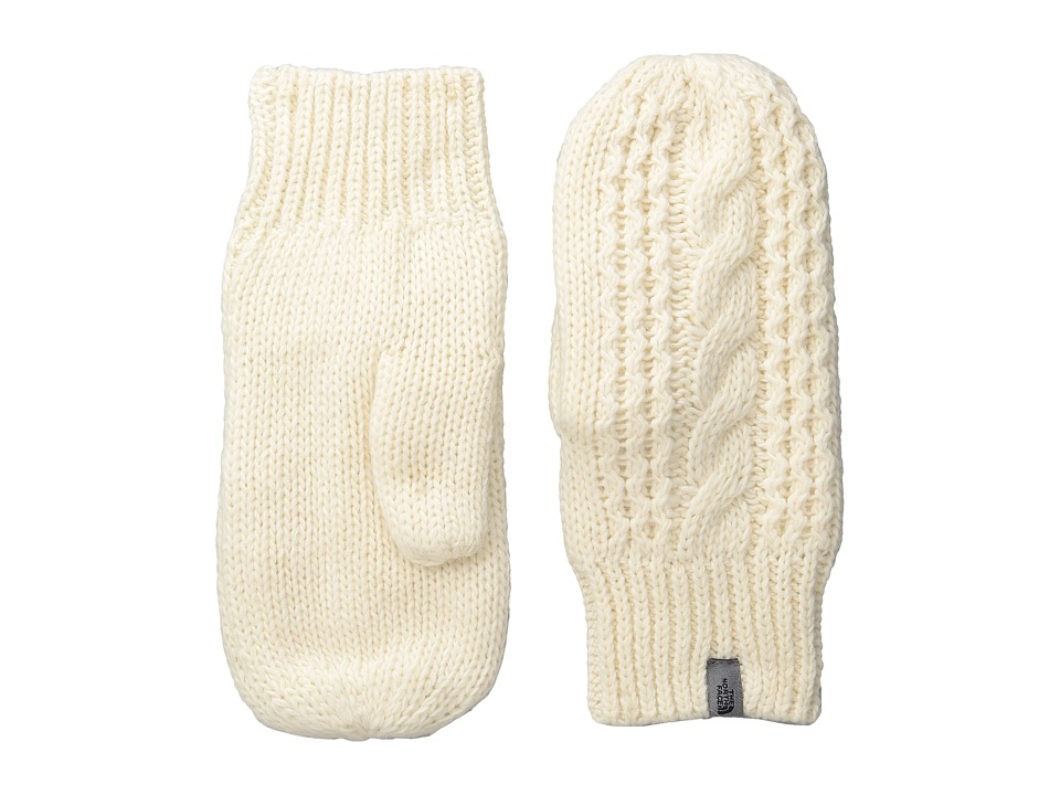 The North Face Cable Knit Mitt (Vintage White (Prior Season)) Extreme Cold Weather Gloves
