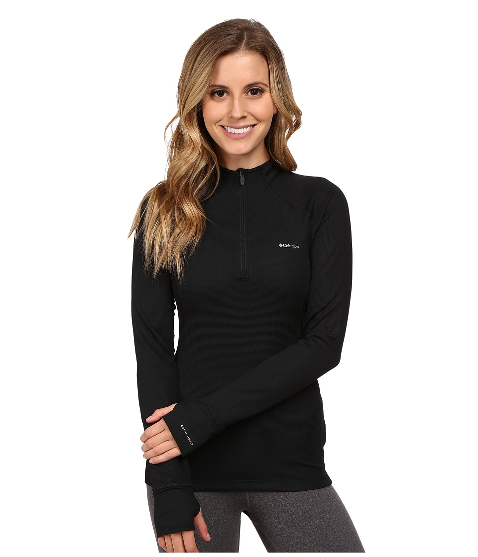 Columbia Heavyweight II Long Sleeve 1/2 Zip (Black) Women