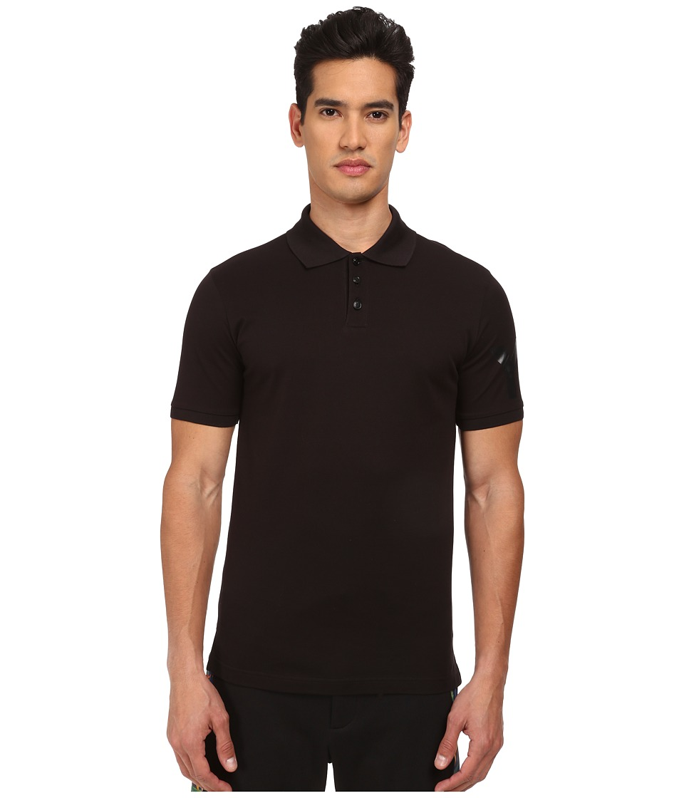 Image of adidas Y-3 by Yohji Yamamoto - Classic Polo (Black) Men's Short Sleeve Pullover