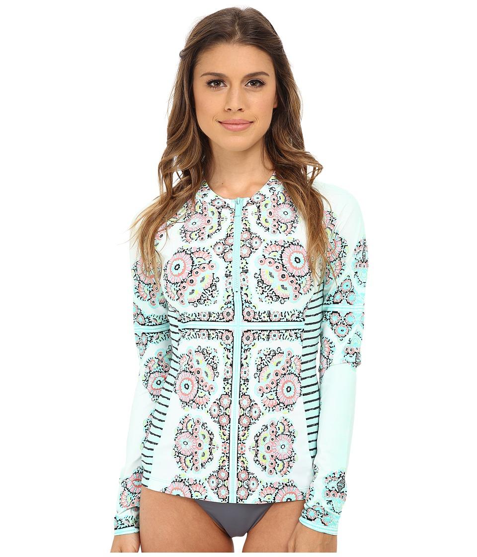 Nanette Lepore - Montecito Covers Rashguard w/ Zipper (Seafoam) Women's Swimwear