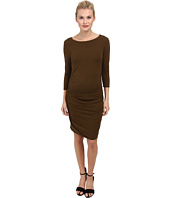 Three Dots - 3/4 Sleeve Shirred Dress