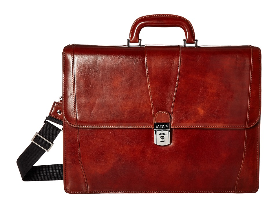 Bosca Double Gusset Brief (Amber) Briefcase Bags