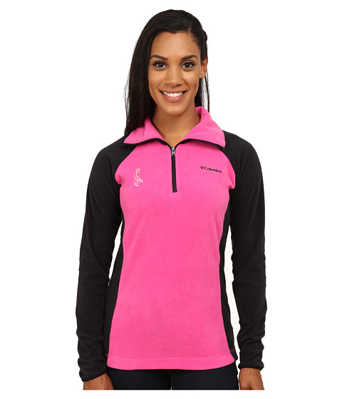 Columbia Tested Tough in Pink™ Fleece Half Zip - Pink Ice/Black