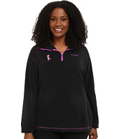 Columbia - Plus Size Tested Tough in Pink™ Fleece Half Zip