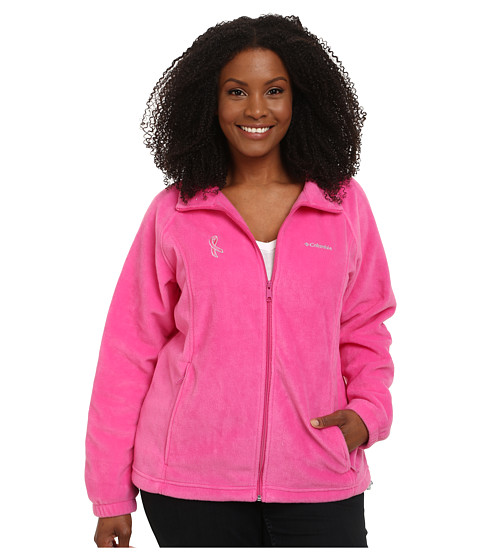 Columbia Plus Size Tested Tough In Pink™ Benton Springs Full Zip - Pink Ice