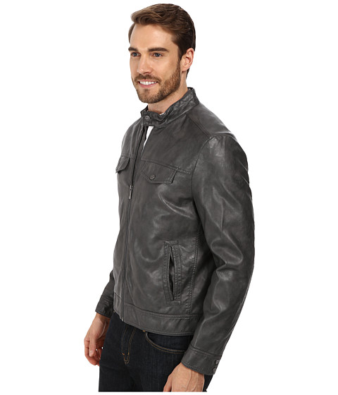 Kenneth Cole Reaction PU Zip Front Jacket - 6pm.com