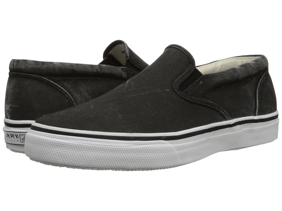 Sperry Top Sider Striper Slip On Black Mens Slip on Shoes