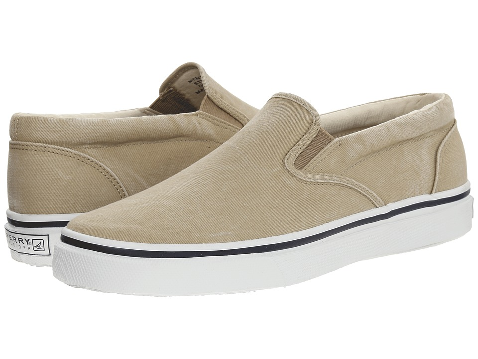 Sperry Top Sider Striper Slip On Tan Mens Slip on Shoes