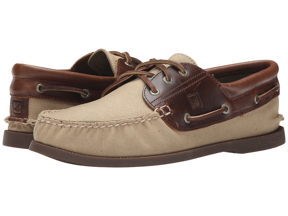 Sperry Top-Sider A/O 3-Eye Padded Collar Duck Cloth (Brown) Men