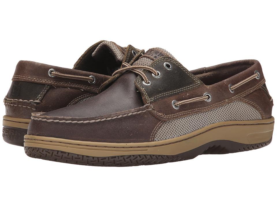 Sperry Billfish 3-Eye Boat Shoe (Brown/Olive) Men