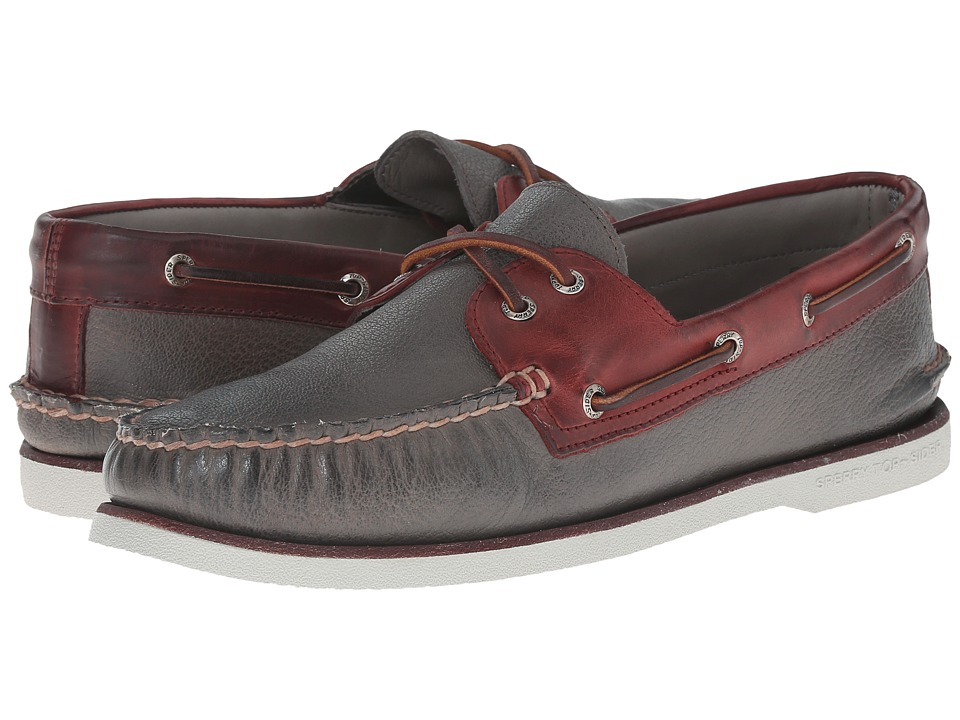 Sperry Top-Sider - Gold A/O 2-Eye (Grey/Burgundy) Men