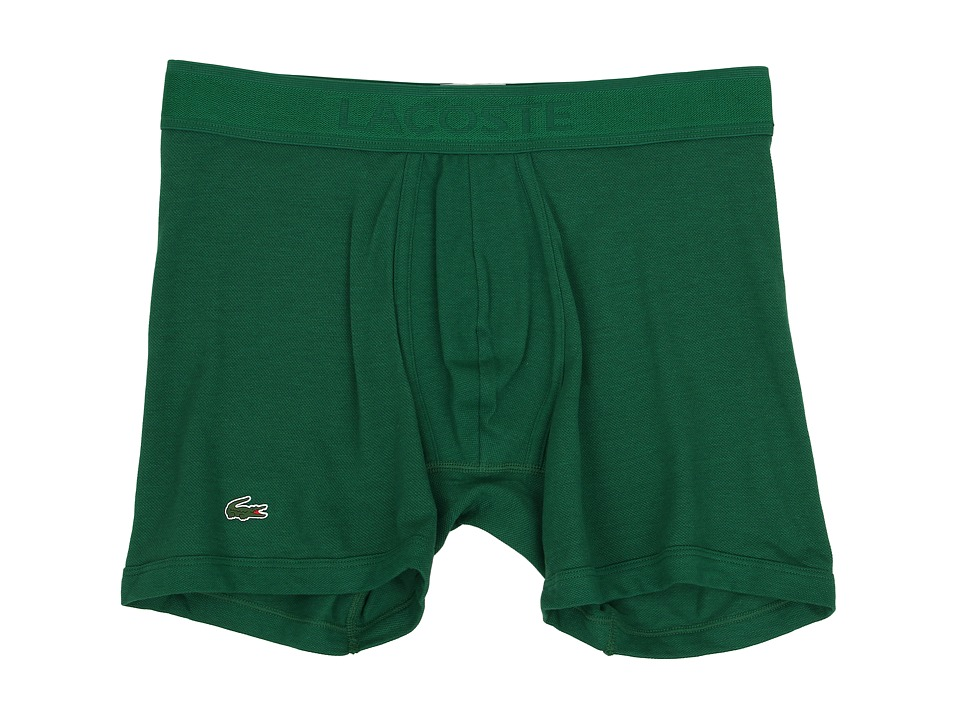 Lacoste Pique Underwear Pique Boxer Brief Lacoste Green Mens Underwear