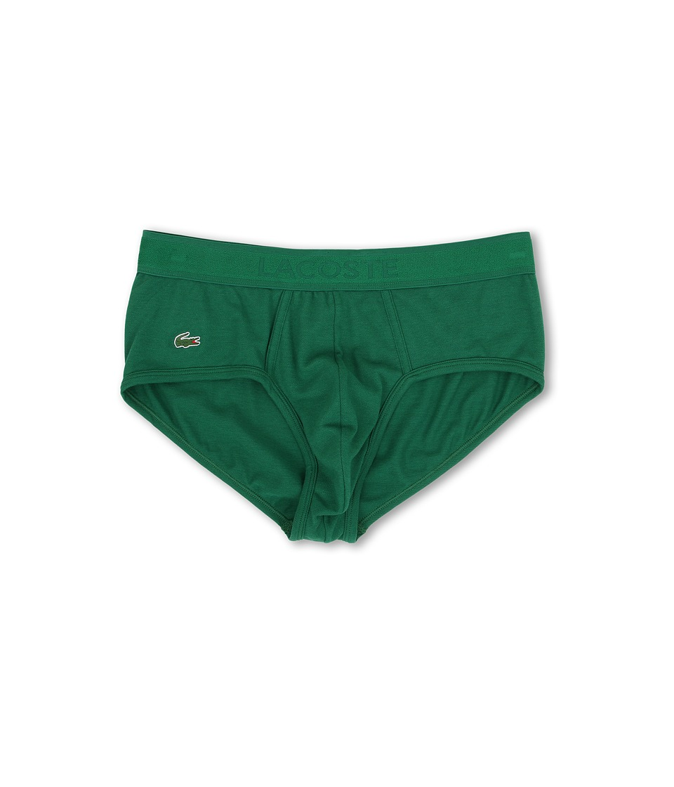Lacoste Pique Underwear Pique Brief Lacoste Green Mens Underwear