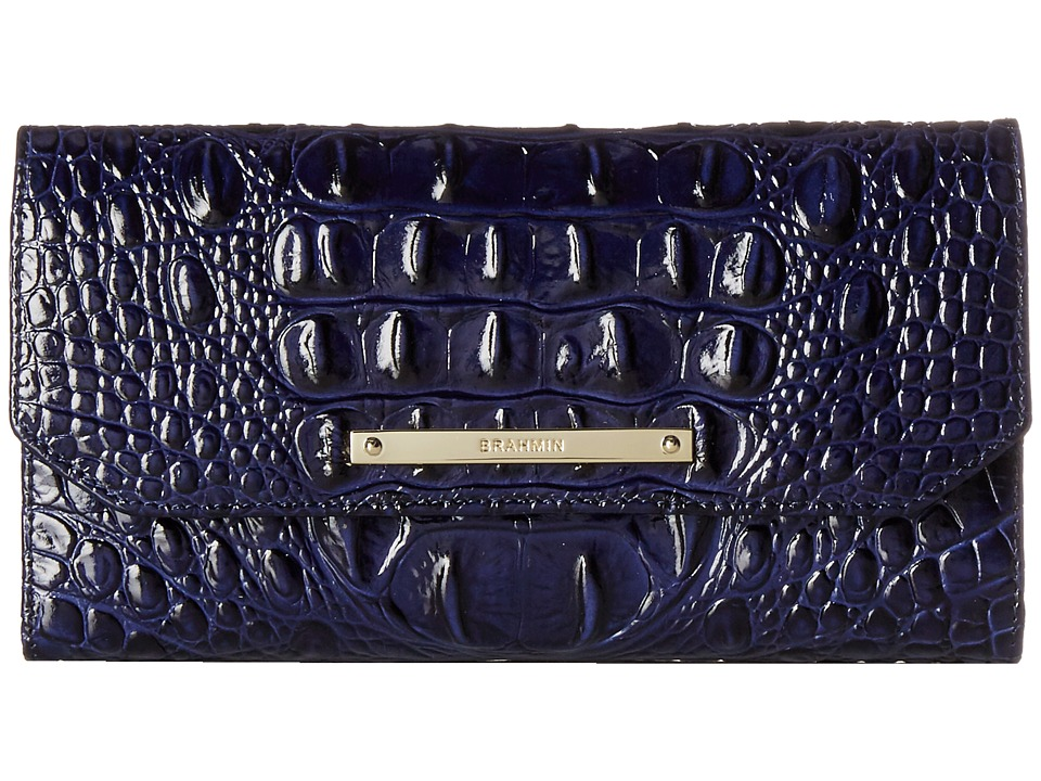 Brahmin Soft Checkbook Wallet Ink Wallet Handbags