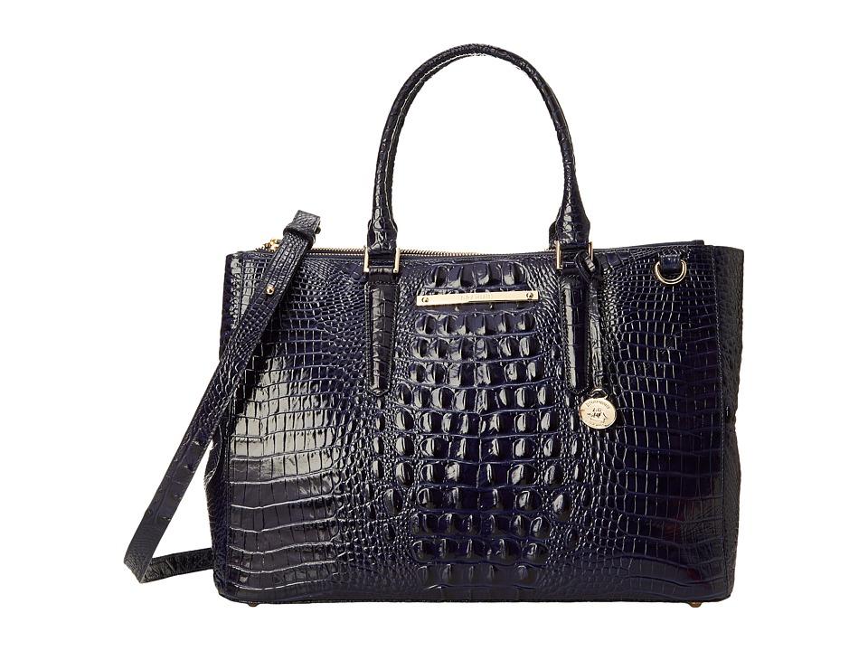 Brahmin Lincoln Satchel Ink Satchel Handbags