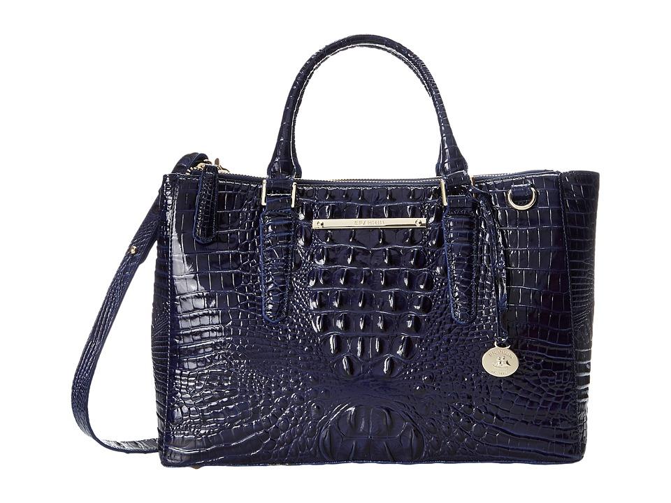 Brahmin Small Lincoln Satchel Ink Satchel Handbags