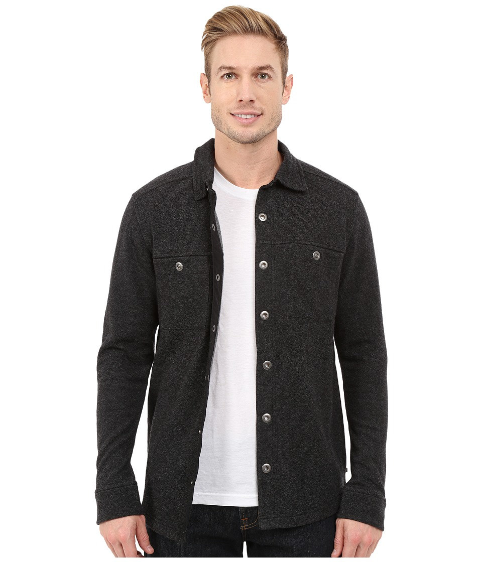 ToadampCo Sidecar Snap Closure Overshirt Black Heather Mens Long Sleeve Button Up