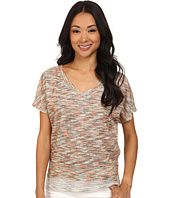 KUT from the Kloth - Maddy V-Neck Short Dolman Top Hi-Low