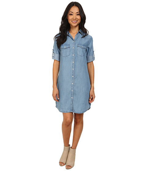 KUT from the Kloth Ruthy Button Front Shirt Dress - Vintage Wash