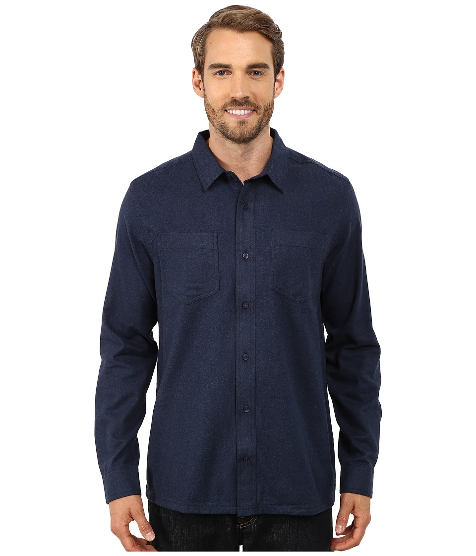 ToadampCo Flannagan Solid Long Sleeve Shirt Night Sky Mens Long Sleeve Button Up