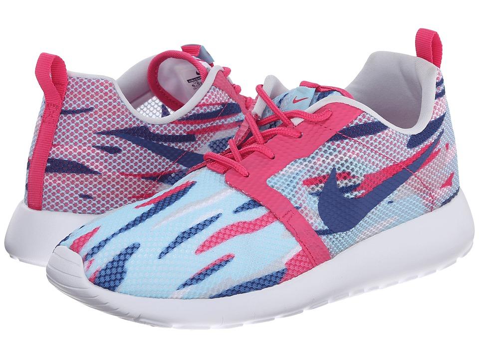 Nike Kids - Roshe Run Flight Weight (Little Kid/Big Kid) (Copa/Insignia Blue/Pure Platinum/Vivid Pink) Girls Shoes
