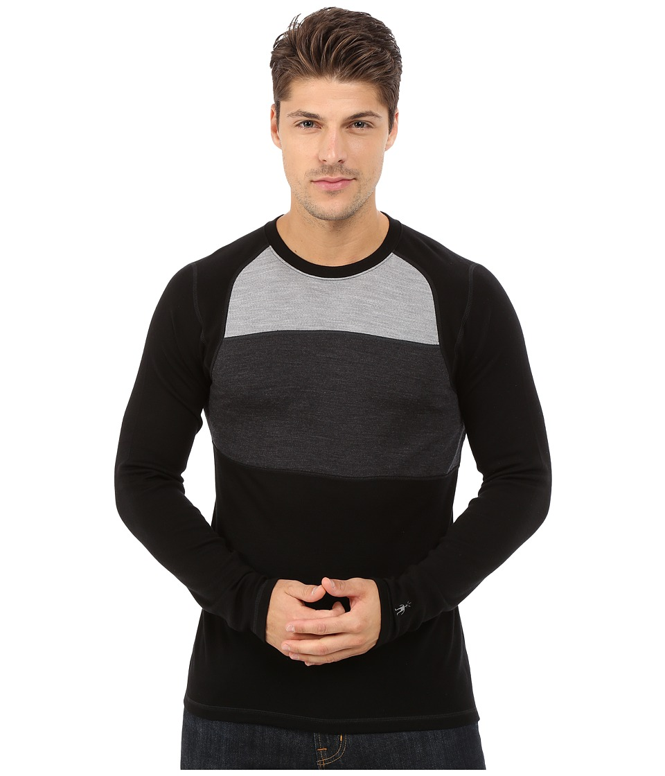 Smartwool NTS Mid 250 Color Block Crew Top (Black) Men