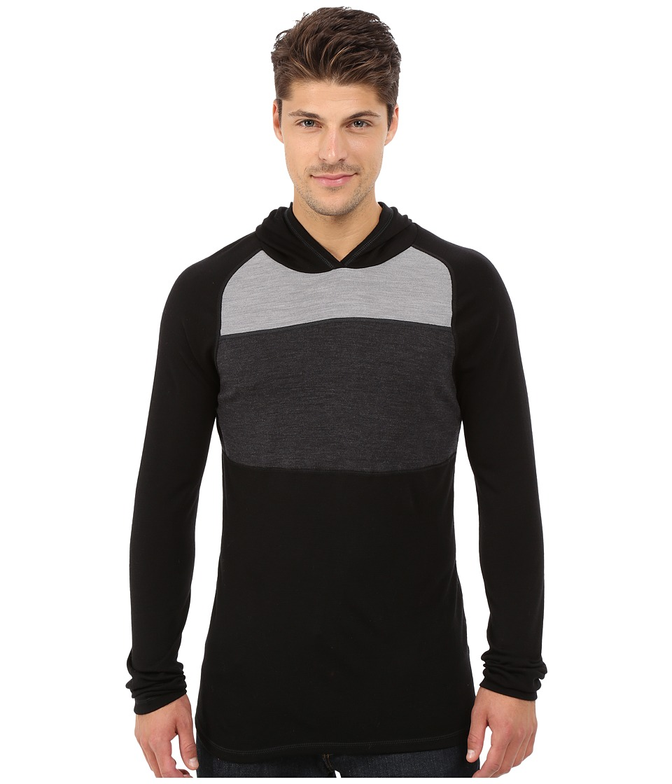 Smartwool - NTS Mid 250 Color Block Hoodie (Black) Men