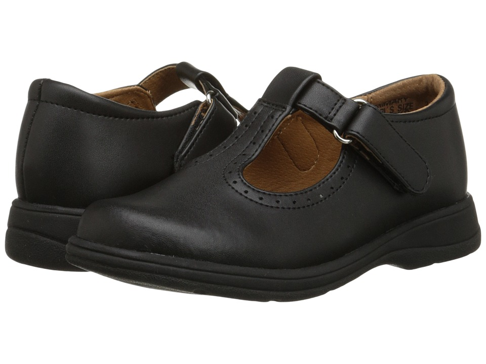 School Issue Primary (Toddler/Little Kid/Big Kid) (Black Leather) Girls Shoes