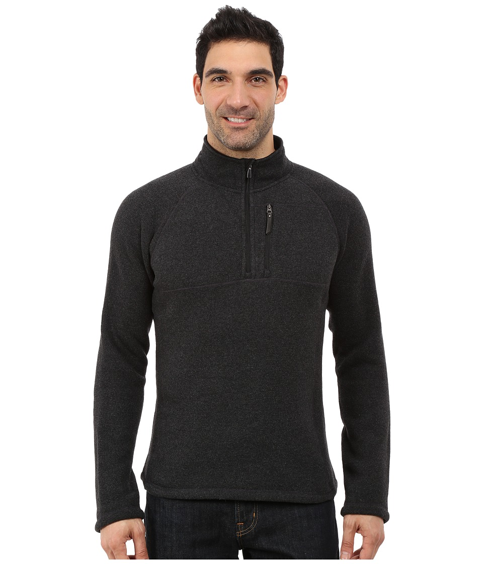 Smartwool Echo Lake 1/2 Zip Top (Charcoal Heather) Men's ...