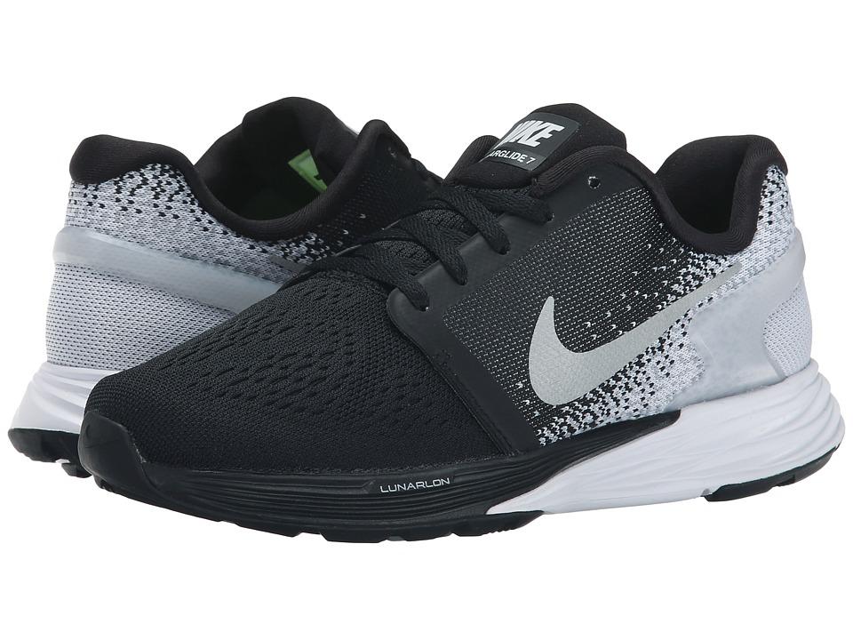 Nike Kids Lunarglide 7 Big Kid Black/Wolf Grey/Cool Grey/Metallic Silver Boys Shoes