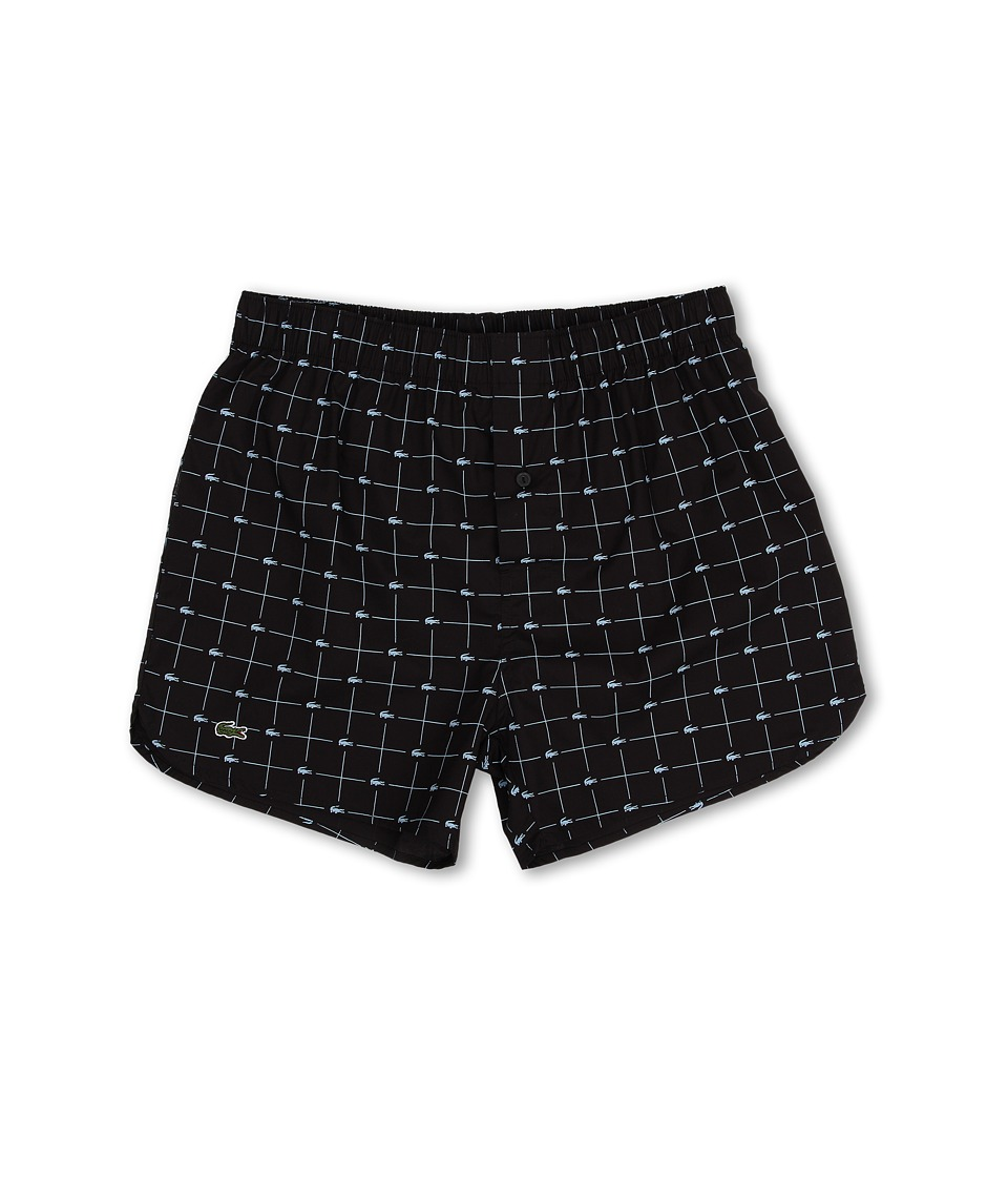 Lacoste Authentics Woven Boxer Croc Boxer Black Mens Underwear