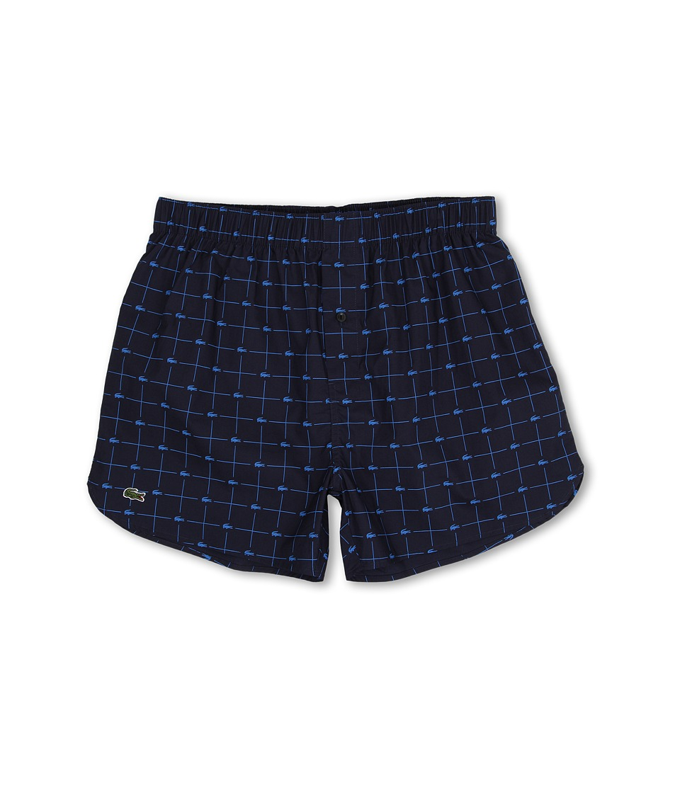 Lacoste Authentics Woven Boxer Croc Boxer Navy Mens Underwear