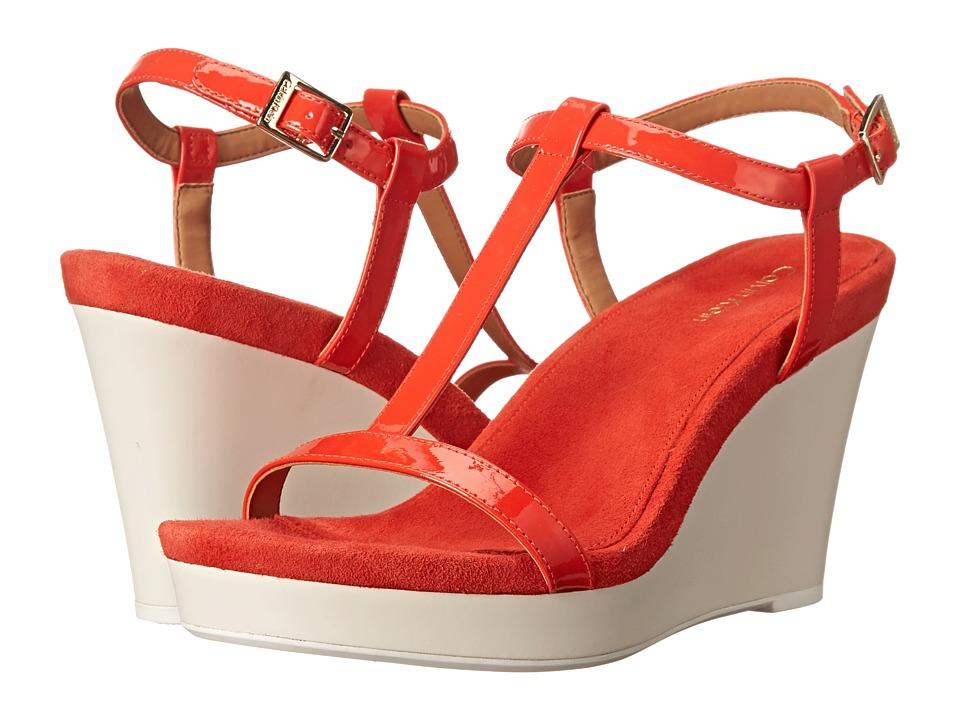 Calvin Klein - Jiselle (Vermillion Patent) Women's Wedge Shoes