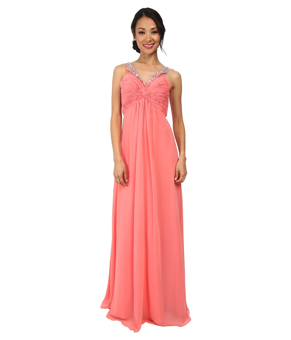 Faviana - Chiffon Shirred Bust Dress 7515 (Sorbet) Womens Dress