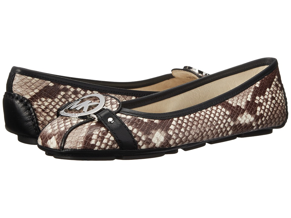 Shop MICHAEL Michael Kors online and buy MICHAEL Michael Kors Fulton Moc Natural Embossed Printed Snake Womens Flat Shoes online