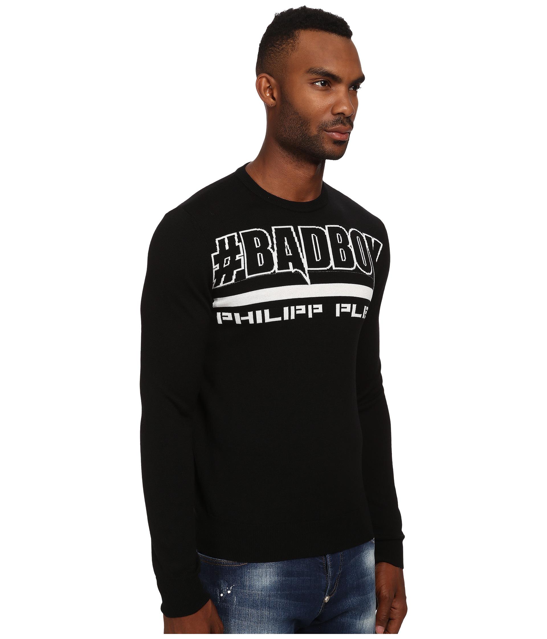 philipp plein pullover sweater black free. Black Bedroom Furniture Sets. Home Design Ideas