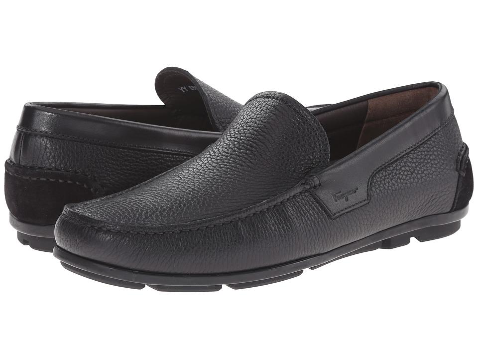 Salvatore Ferragamo Maerne Moccasin Nero Mens Moccasin Shoes