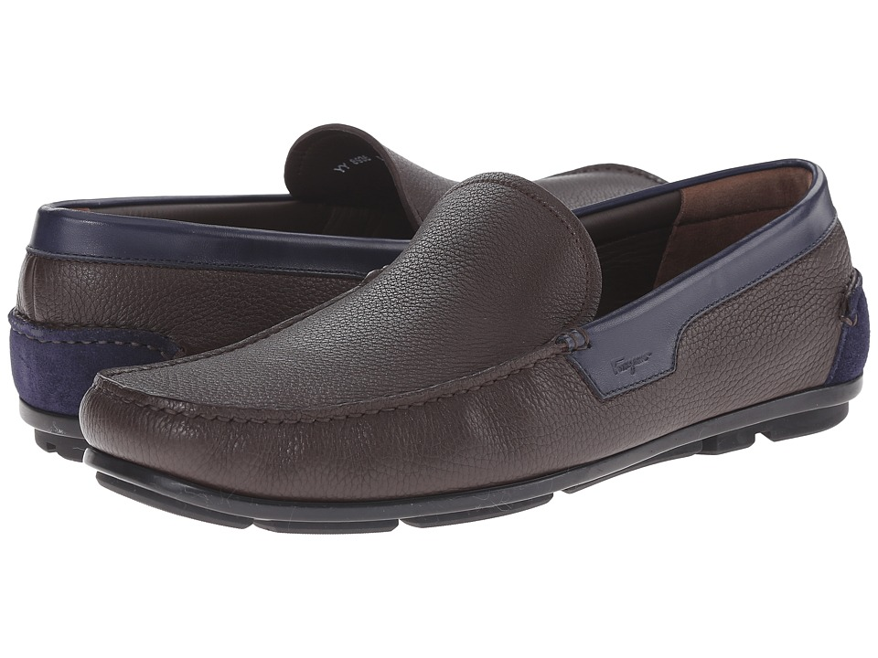 Salvatore Ferragamo Maerne Moccasin Hickory Mens Moccasin Shoes