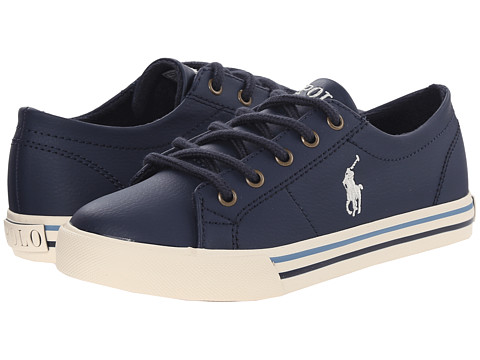 Polo Ralph Lauren Kids Scholar (Little Kid) - Navy Tumbled