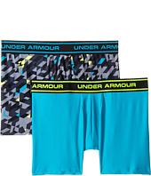 Under Armour Kids - UA HeatGear® Performance Printed Boxerjock® 2-Pack (Big Kids)