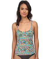 Trina Turk - Bora Bora Stripe Over the Shoulder Tankini