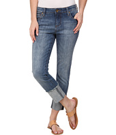 KUT from the Kloth - Wide Cuff Boyfriend in Fervent with Antique Base Wash