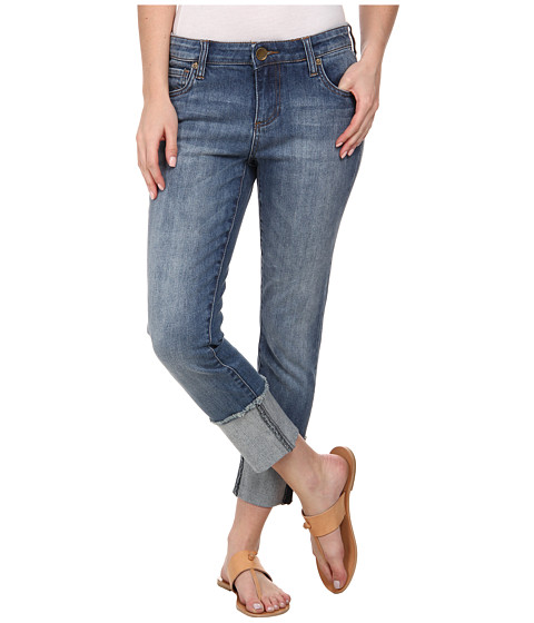 KUT from the Kloth - Wide Cuff Boyfriend in Fervent with Antique Base Wash (Antique Base Wash) Women's Jeans