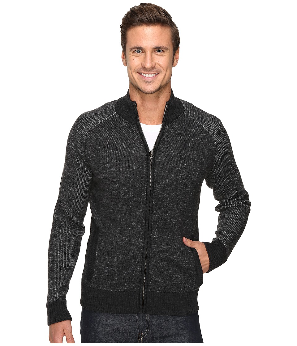 Smartwool Pioneer Ridge Full Zip Top (Charcoal Heather) Men