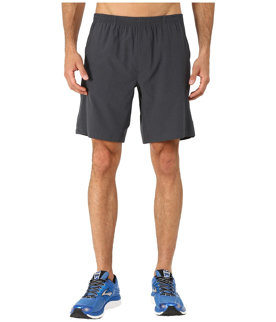 Brooks Rush 9 Shorts (Heather Black) Men