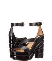 Salvatore Ferragamo - Pantent Leather Platform Sandal